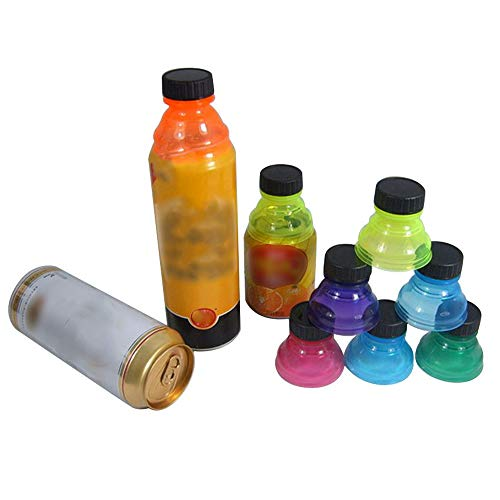️ Yu2d ❤️❤️ ️6Pcs Soda Saver Pop Beer Beverage Can Cap Flip Bottle Top Lid Protector Snap On ()