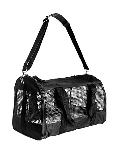 Foldable Travel Soft-Sided Pet Duffle Carrier - 17.5L X 10.5H X11W