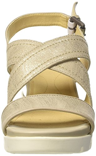 Donna Marykarmen Con Geox Gold Beige lt D Zeppa beige Plus B Sandali 5XAWq0Aw