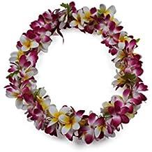 Hawaii Luau Party Artificial Fabric Plumeria Lei Various Colors