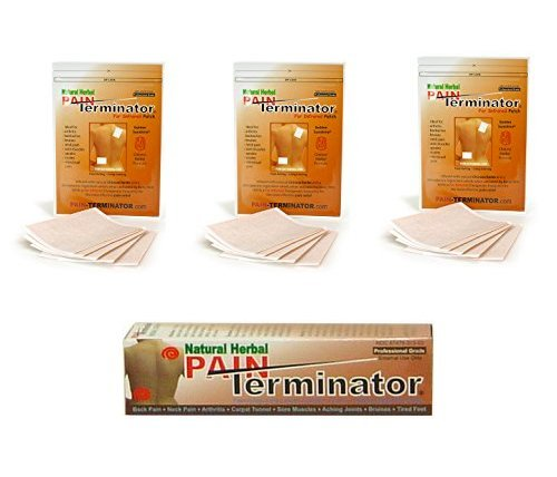 Golden Sunshine - Pain Terminator Patch & Cream Bundle Kit - 3 Pack (15 Patches) & 1 Cream Tube (50 gm)