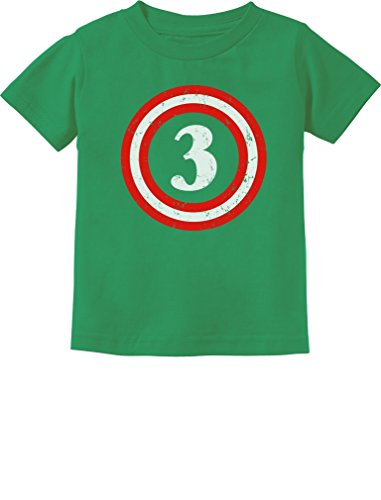 Captain 3rd Birthday - Gift for Three Years Old Toddler/Infant Kids T-Shirt 4T Green (The Mind Of A 3 Year Old)