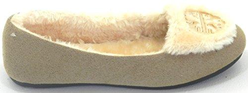 Classic Flat Warm Beige Moccasin on Shoes Fur Slip Women Winter Comfortable Lining Motif FtzPwqd