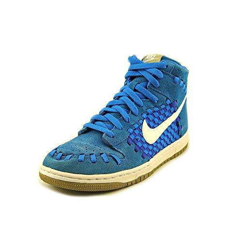 Nike Dunk Hi Woven Photo Blue White Khaki