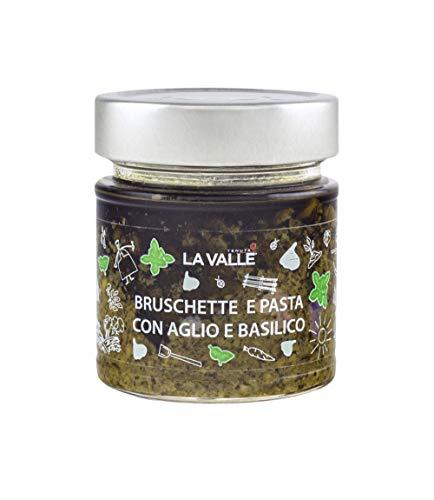 Bruchette en pasta, met knoflook en basilicum, houdt de val vast, 190 g, verpakking met 6 stuks