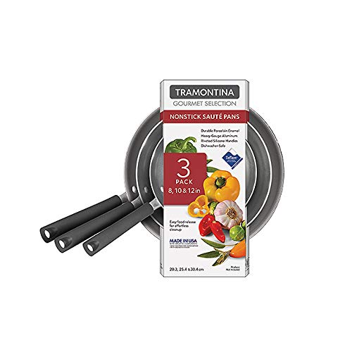 Tramontina Gourmet Selection 3-pack Saute Pans - Red