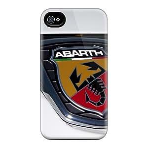 Apple Iphone 4/4s Jgo16988mqTF Allow Personal Design Lifelike Abarth Badge On Fiat Punto Series Durable Cell-phone Hard Cover -LauraAdamicska