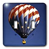 3dRose LLC lsp_3322_2 Hot Air Balloon Freedom, Double Toggle Switch