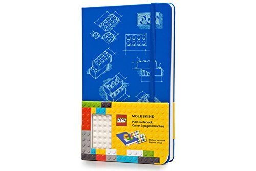 Moleskine LEGO Limited Edition Notebook II, Large, Plain, Blue, Hard Cover (5 x 8.25) by Moleskine (July 23,2014) ()