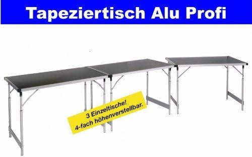 3 empapelar mesas multiusos Tische Alu Tec profesional 60 x 100 cm ...