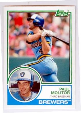 Paul Molitor baseball card (Milwaukee Brewers Hall of Famer) 2015 Topps Archives #224 by Autograph Warehouse