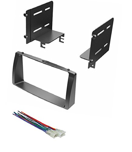 Stereo Dash Trim (ASC Car Stereo Dash Kit and Wire Harness for Installing a Double Din Radio for 2003-2008 Toyota Corolla)