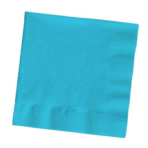 Creative Converting Touch of Color 2-Ply 50 Count Paper Lunch Napkins, Bermuda Blue (661039B)