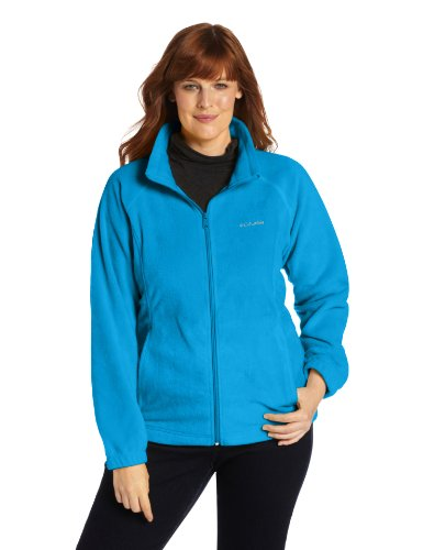 Columbia Women's Plus Size Benton Springs Full Zip Fleece Jacket, Dark Compass, 2X