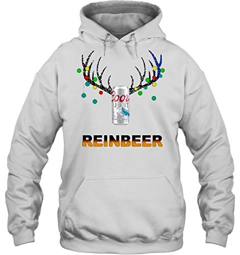 Funny Cool Outwear Christmas Reindeer Pullover Hooded Sweatshirts for Boys Mens