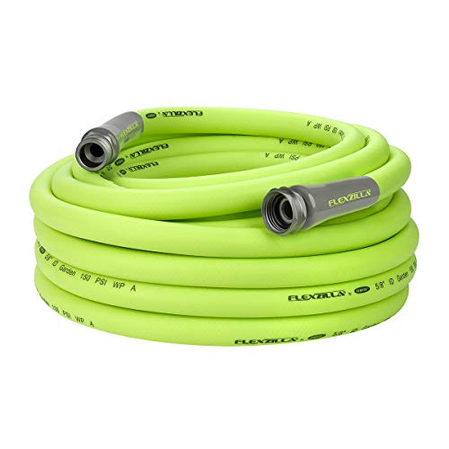 (Flexzilla Garden Hose, 5/8 in. x 50 ft., Heavy Duty, Lightweight, Drinking Water Safe - HFZG550YW)