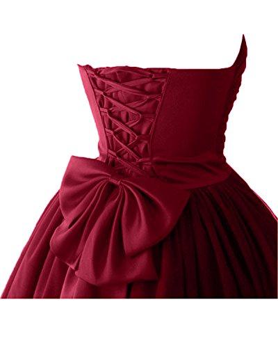di Bete sposa in vestimento stanotte lungo a tulle cuore vestimento raso colore vestimento ball facile a forma giovane Nero corta vestimento Victory 7xqwfI4a