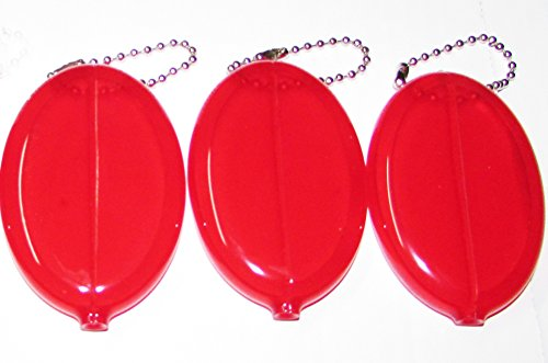 3 RED COIN PURSES ()