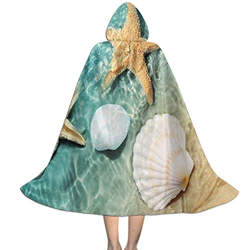 Sea Hag Halloween Costume (MFLLY Halloween Costumes Beach Starfish Seashell Marvellous Hooded Witch Wizard Cloak for Kids)