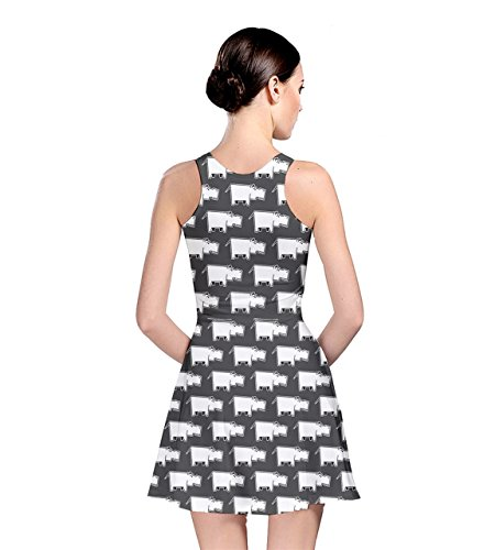 XS Womens Dress Cat Panda Gray Skater Sheep Hippo Horse Hippo CowCow Animal 5XL Pig Rabbit Dog fwPnd7