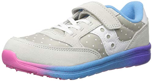 Saucony Baby Jazz Lite Sneaker, Grey/Multi, 040 Medium US Toddler