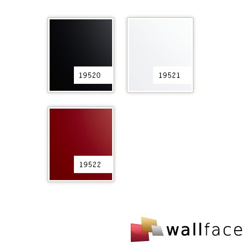 Panel de pared aspecto plástico WallFace 19521 Magic White liso Panel decorativo unicolor mate autoadhesivo resistente a la abrasión blanco 2,6 m2: ...