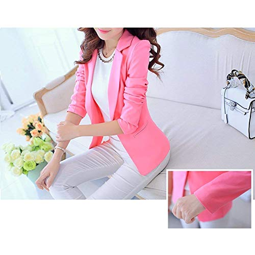Donna Fashion Coat Blazer Colori Primaverile Eleganti Da Giacca Fit Manica Slim Bavero Battercake Solidi Tailleur Ufficio Donne Camicia Autunno Rose Business Lunga Casuale Iqwtc8