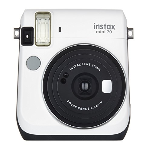 Fujifilm Instax Mini 70 – Instant Film Camera (White) (Renewed)