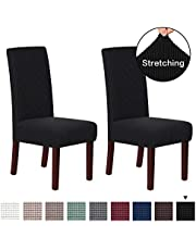 Stretch Dining Chair Slipcovers Jacquard Removable Washable High Dining Room Chair Protector Covers Sets Parson Chair Protector Cover Perfect for Dining Room, Hotel, Ceremony