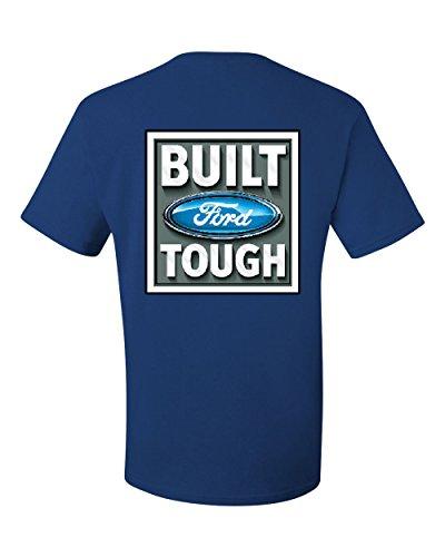 4x 4xl T-shirt - Built Tough T-Shirt Licensed Ford Truck 4x4 F150 Mustang Tee Shirt Royal Blue 4XL
