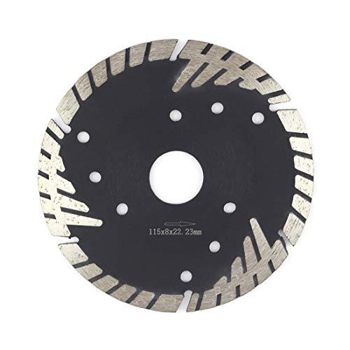 (Granite Blade 4.5,Stylish Y&I Segmented Diamond Blades for Marble Brick Concrete Ceramic Stone Cutting Premium Turbo Abrasive Blade for Grinder(4.5 inch, black))