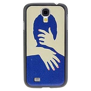 ZCL-Abrazo Caso duro del patrón para Samsung i9500 Galaxy S4