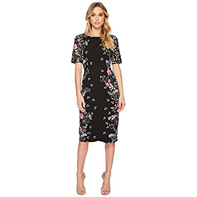 Adrianna Papell Women's Printed Sheath Midi Dress at Women's Clothing store