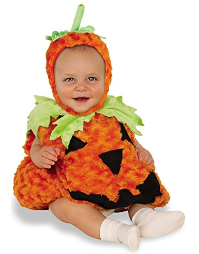 Rubies Pumpkin Infant Halloween Costume (Rubie's Costume Co. Baby Pumpkin Costume, As Shown, Toddler (USA 2-4))