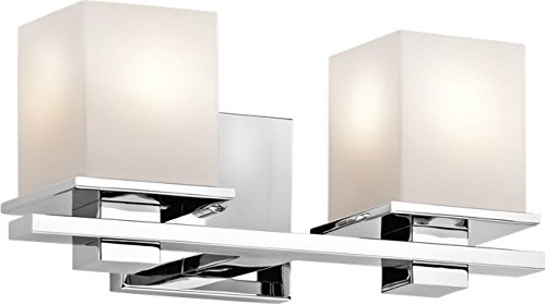 - Kichler 45150CH Tully Vanity, 2 Light Incandescent 200 Total Watts, Chrome