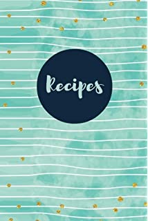 recipes blank page recipe journal 100 pages blank cookbook 6x9
