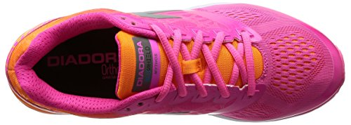 Diadora Femmes Mythos Blushield Chaussures De Course Fluo Rose / Orange Fluo