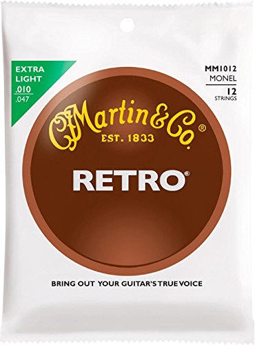 Martin Retro Acoustic 12 String Guitar Set Extra Light Gauge