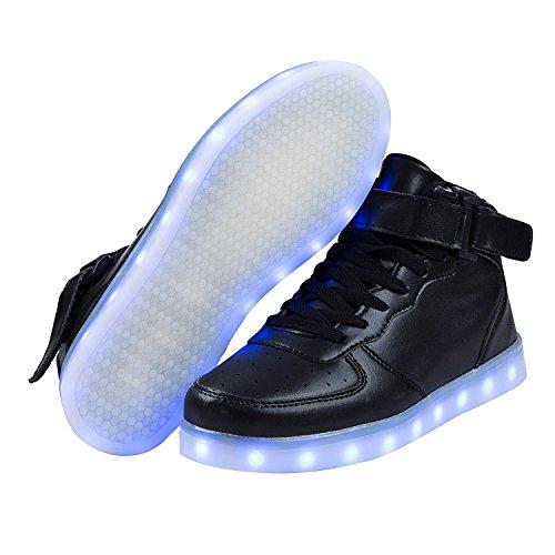 new styles 103b3 da702 SAGUARO 7 Farben LED Schuhe USB Aufladen Leuchtschuhe Licht Blinkschuhe  Leuchtende Sport Sneaker Light Up Turnschuhe ...