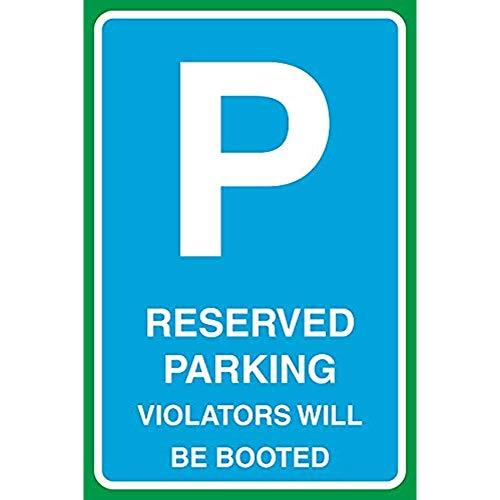 """Diuangfoong Reserved Parking Violators Will Be Booted Print Large Business Office School Parking Car Lot Aluminum Metal Tin 12""""x18"""" Sign Plate from Diuangfoong"""