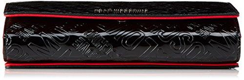 Love Moschino - Borsa Embossed Patent Pu Nero, Bolsos bandolera Mujer, Schwarz (Black), 10x21x5 cm (B x H T)