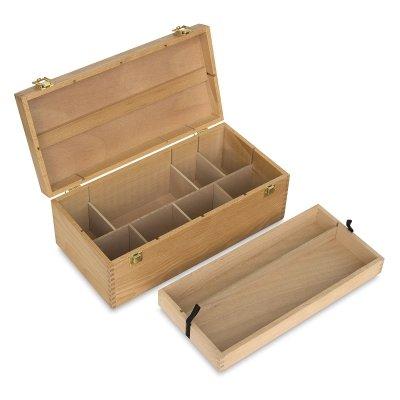 Art Alternatives Wood Box Supply Chest,Brown,16-1/8