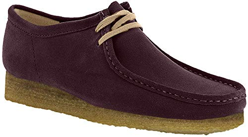 CLARKS Men's Wallabee Shoe Purple Grape Nubuck Size 9.5 D(M) US (Collection Fabric Paradise)
