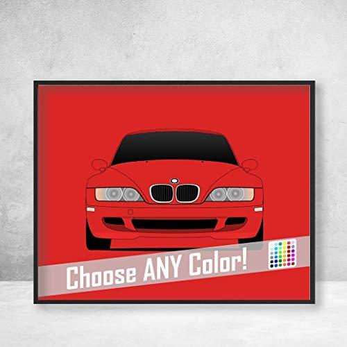 - BMW Z3 M Roadster Coupe Z3M Poster Print Wall Art Decor Handmade M Power BMW M