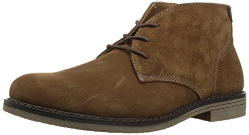 Nunn Bush Men's Lancaster Plain Toe Chukka Boot, Camel Suede, 11 Medium ()