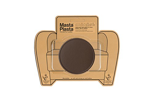 MastaPlasta Self-Adhesive Patch for Leather and Vinyl Repair, Large Circle, Brown - 3 Inch Diameter - Multiple Colors Available