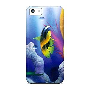 5c Scratch-proof Protection Case Cover For Iphone/ Hot Natures Aquarium Phone Case
