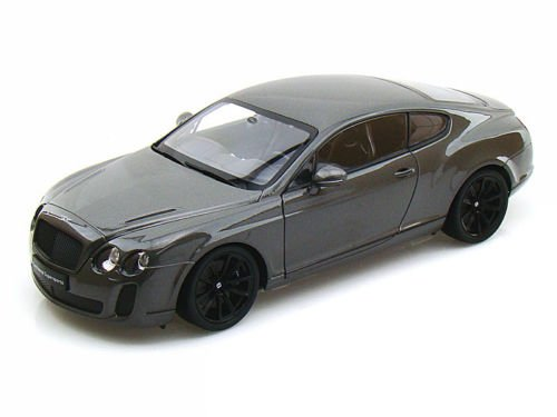 New 1:24 W/B WELLY COLLECTION - GREY BENTLEY CONTINENTAL SUPERSPORTS Diecast Model Car By Welly (Bentley Model Car compare prices)