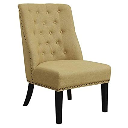 Strange Coaster 902497 Co Upholstered Tufted Accent Chair In Yellow Machost Co Dining Chair Design Ideas Machostcouk