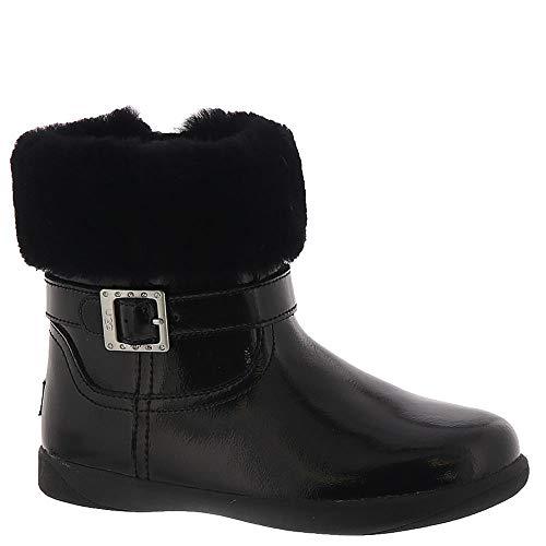 UGG Girls' T Gemma Fashion Boot, Black, 7 M US Toddler